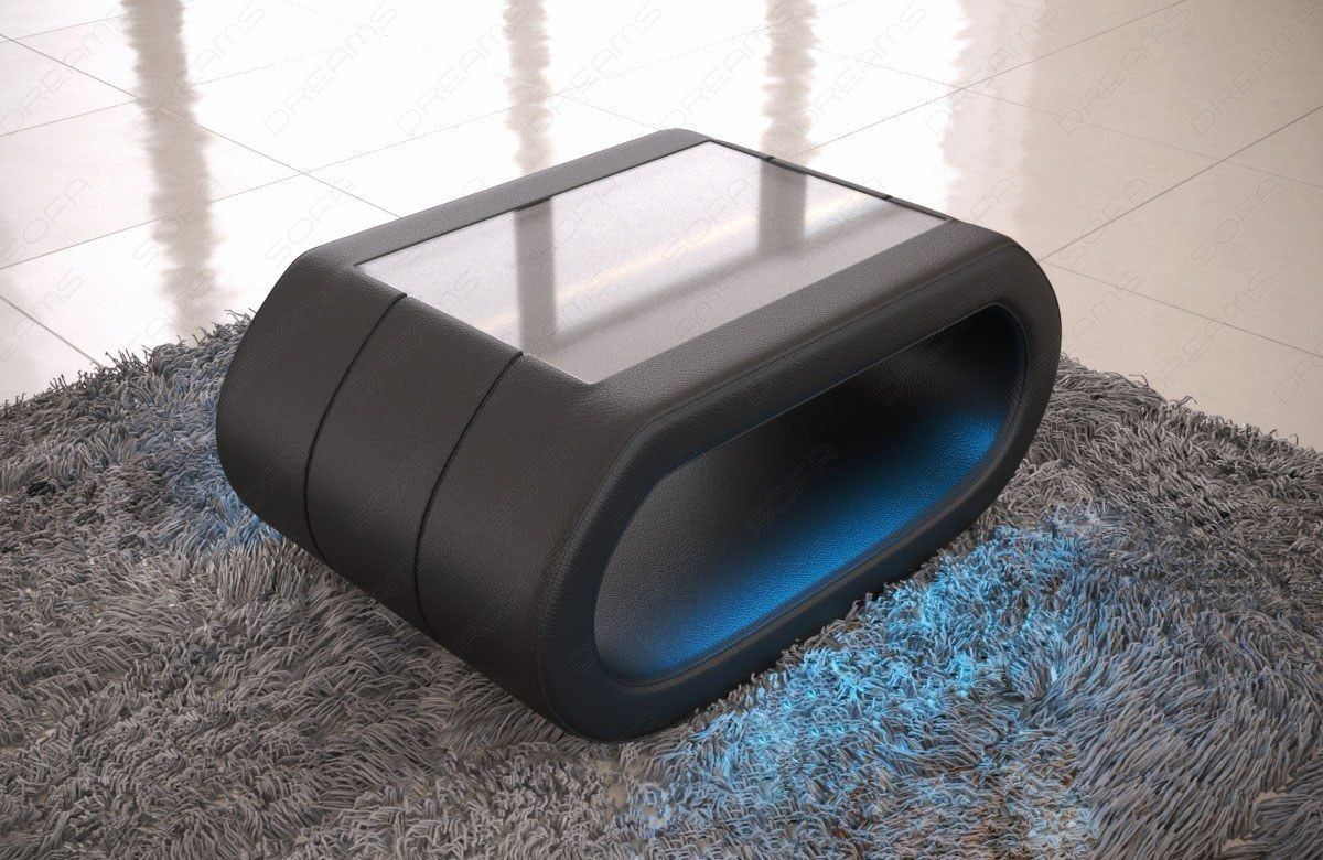 Luxus Couchtisch in schwarz CONCEPT mit LED Beleuchtung