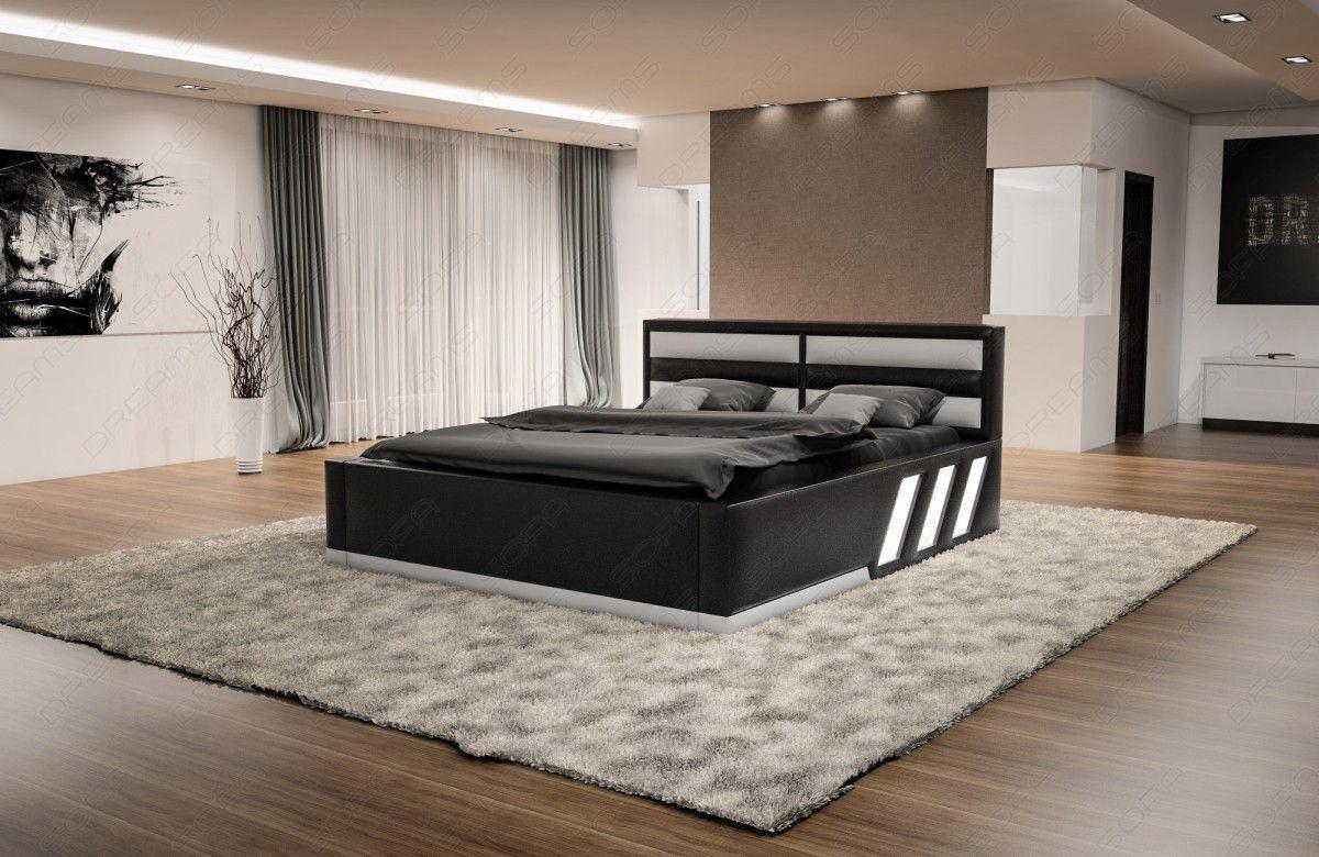 Bett Apollonia komplett Schwarz Weiß
