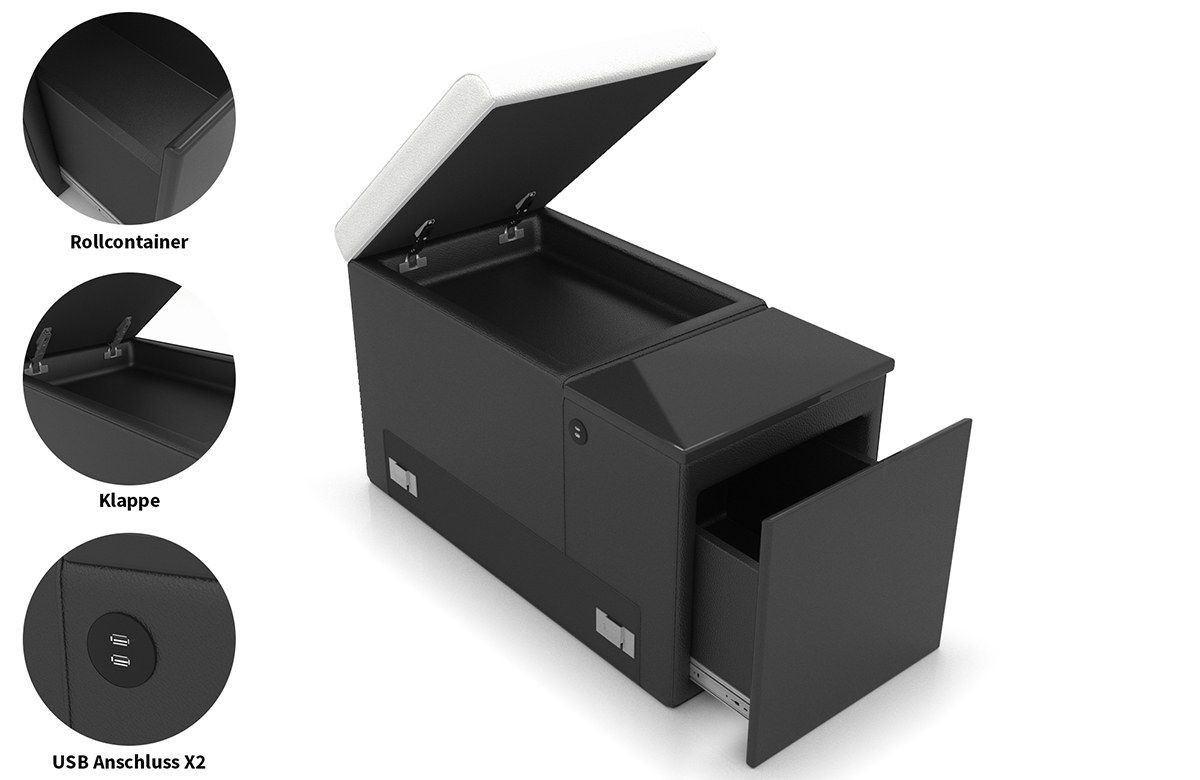 Zusatzelement mit Schubfach, Klappe und 2x USB Anschluss