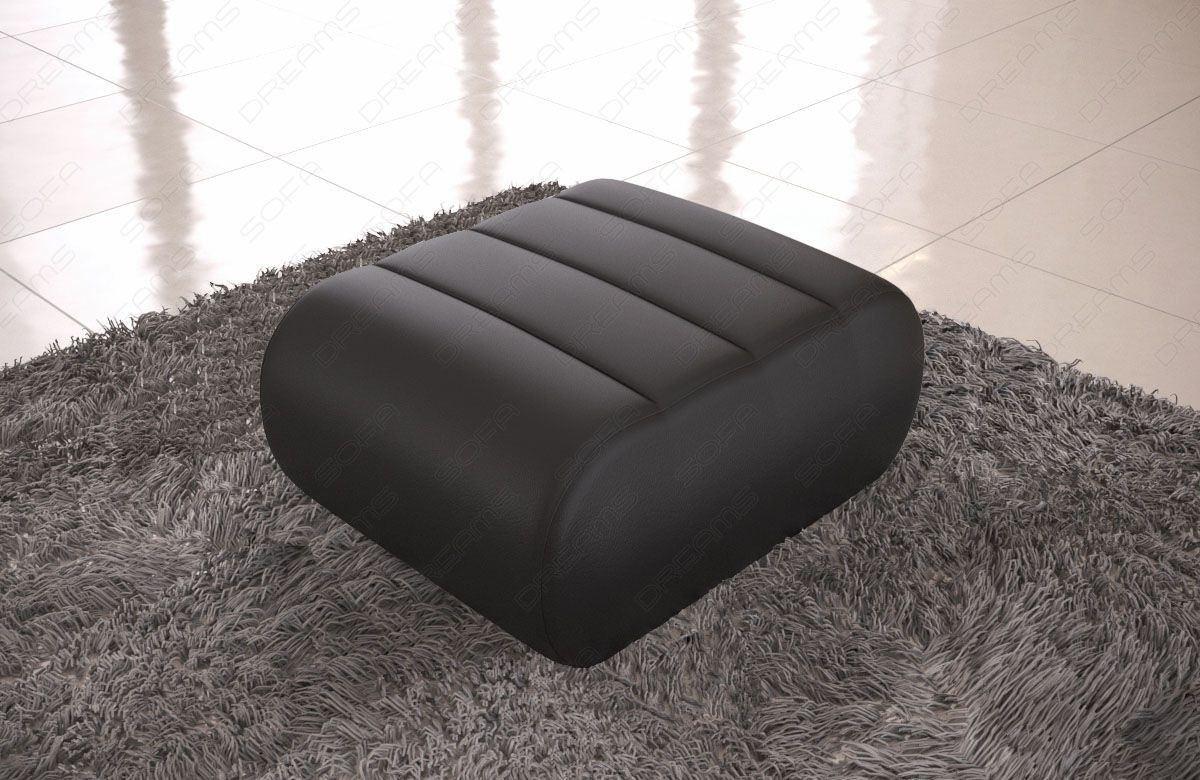 Hocker für die Füße Concept Leder - schwarz