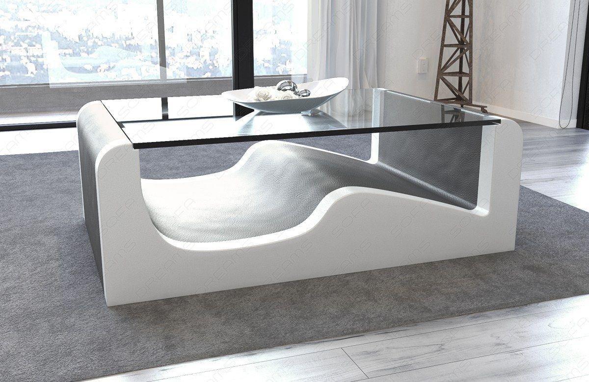 Design Couchtisch Wave in den Farben grau-weiss