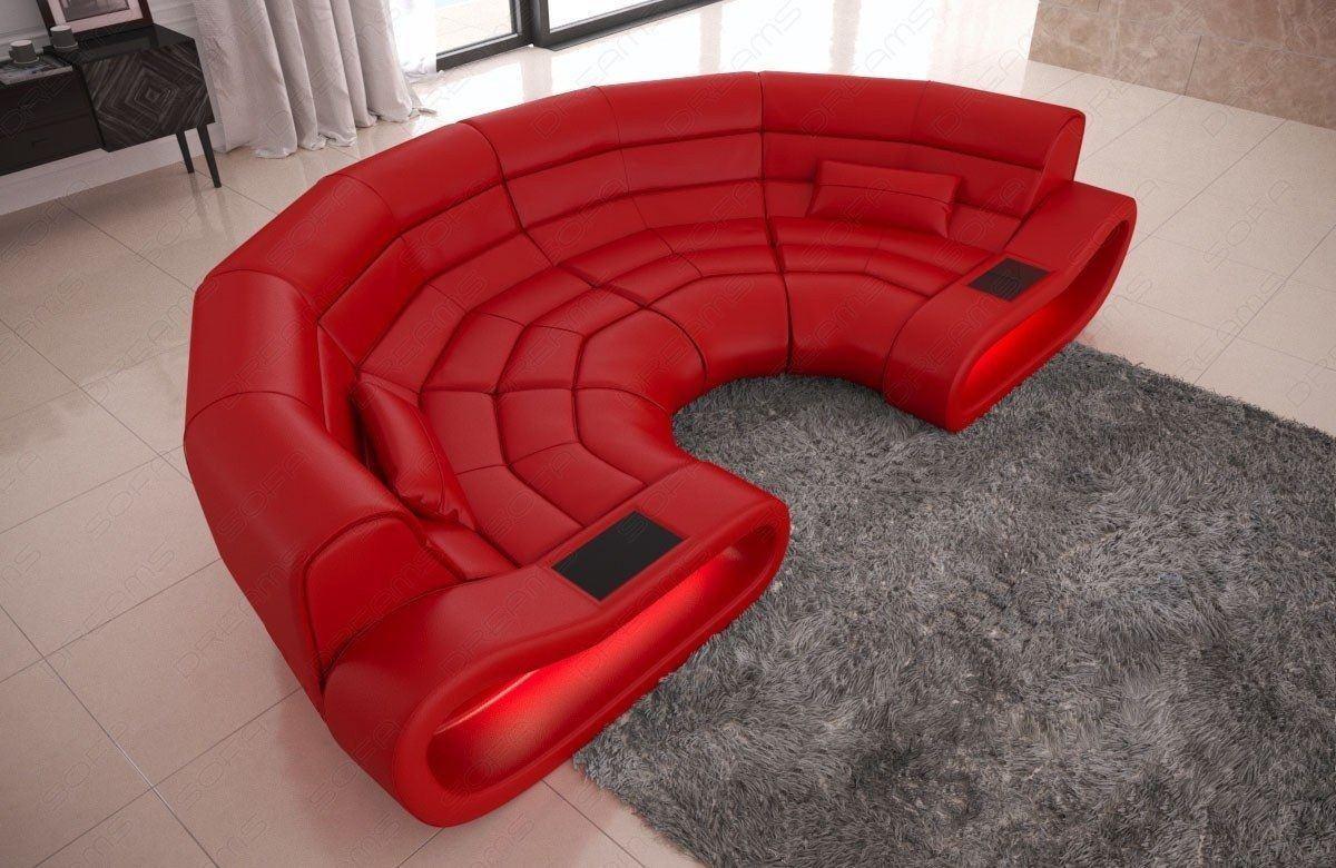 Big Sofa Concept Leder rot