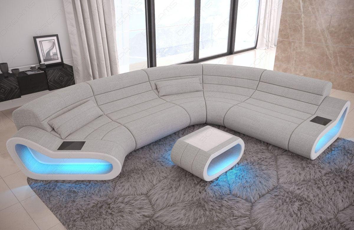 Designer Wohnlandschaft Concept C Form in Macciato - Hugo 2