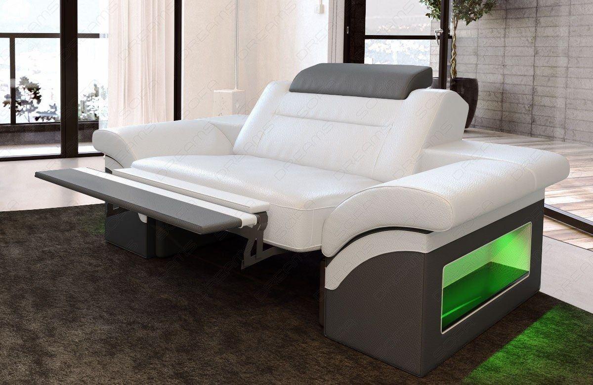 leder sessel monza weiss grau. Black Bedroom Furniture Sets. Home Design Ideas