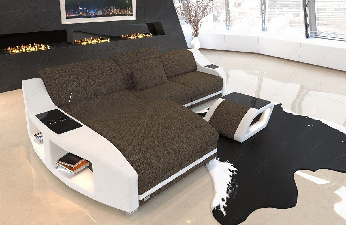 Design Sofa Swing mit Chesterfield Steppung in Hugo 8 - Braun