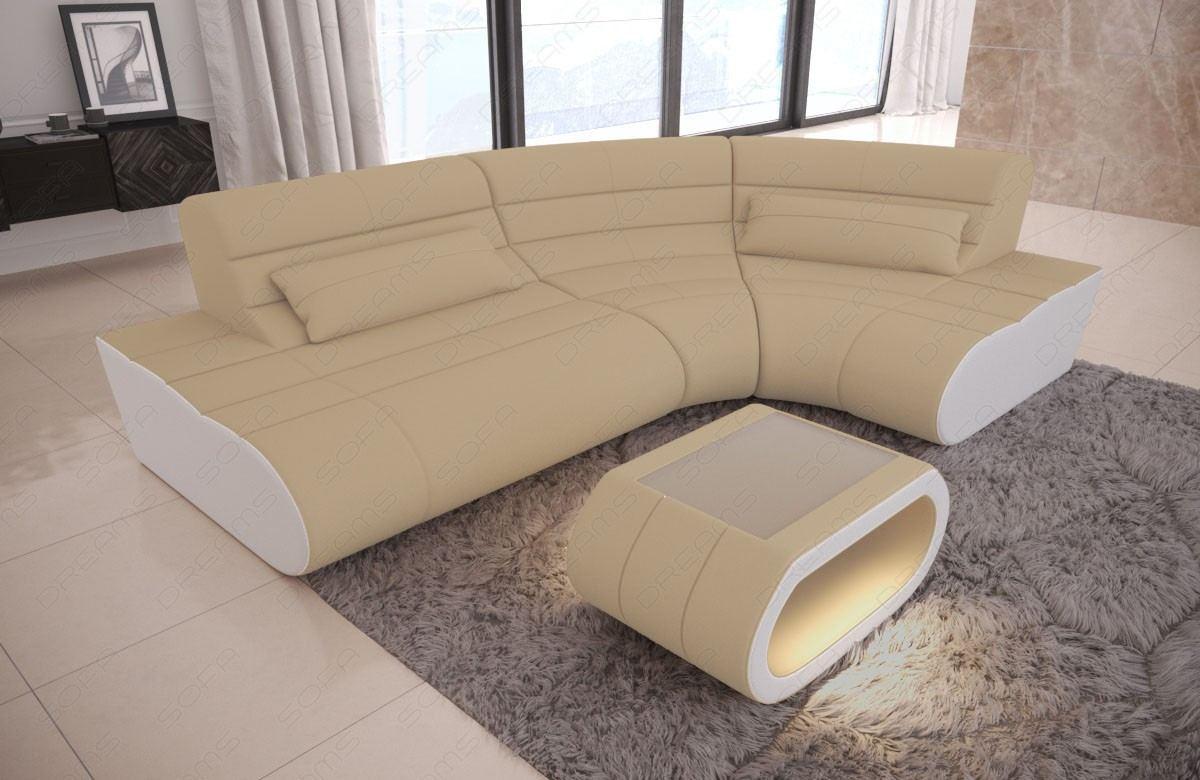 Designer Eckcouch Concept Mini in Beige - Mineva 4