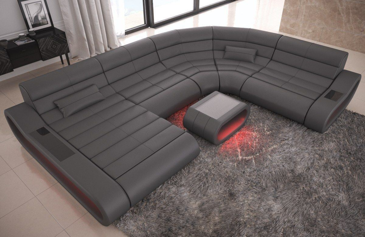 xxl wohnlandschaft concept leder ledersofas u form. Black Bedroom Furniture Sets. Home Design Ideas