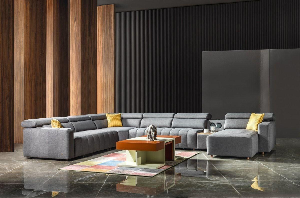 Luxus Sofa Bochum mit USB und Ottomane