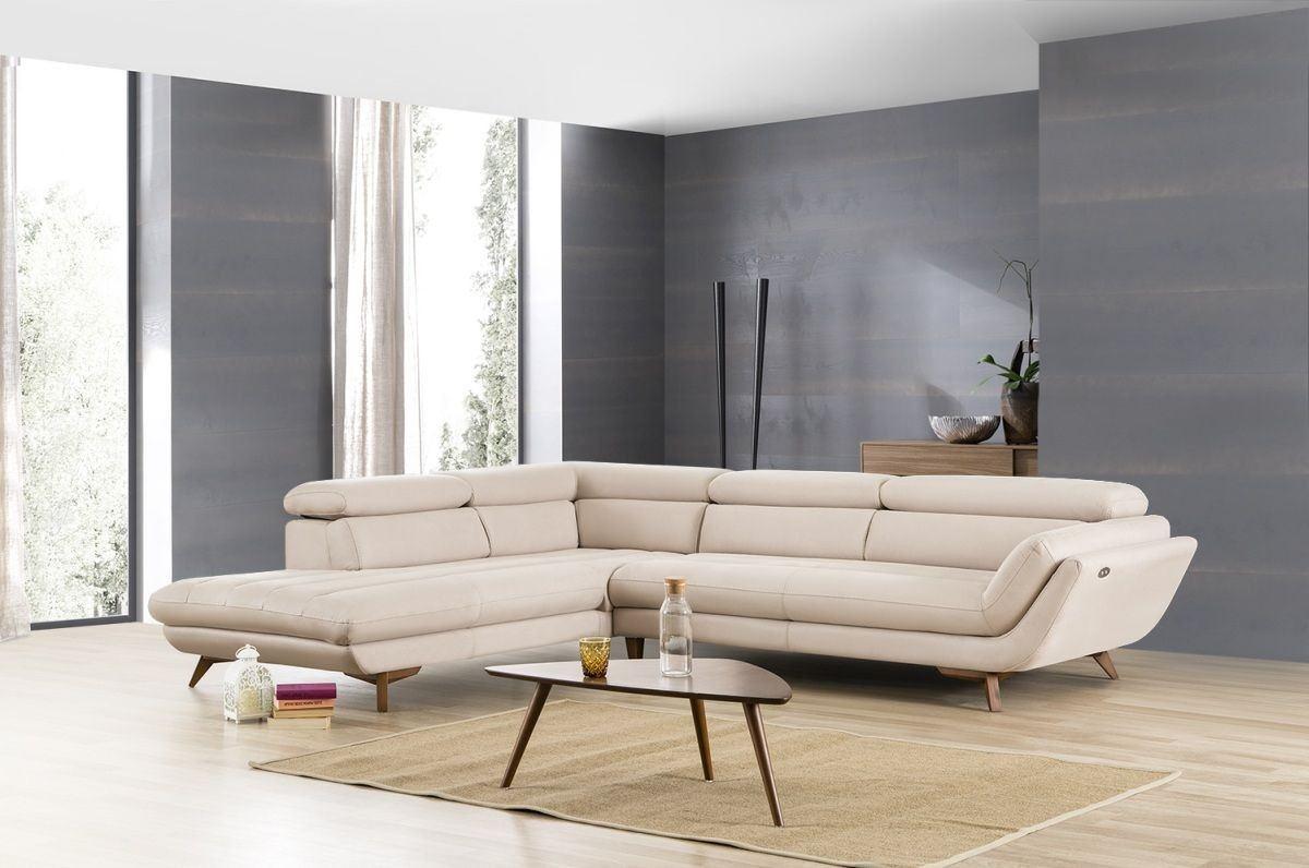 Sofa Bonn mit elektrischer Ausziehfunktion elfenbein - Nerm 15