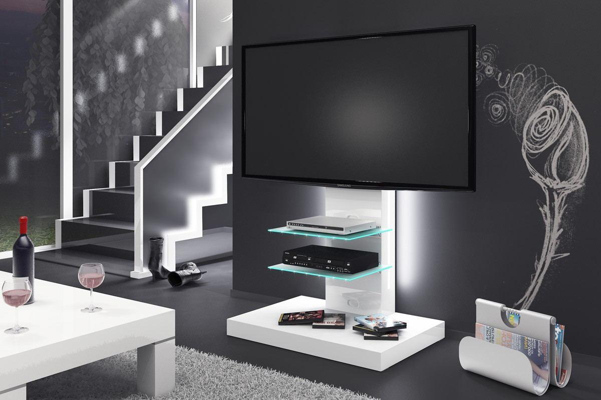 Luxus TV Rack Paterna in hochglanz weiss