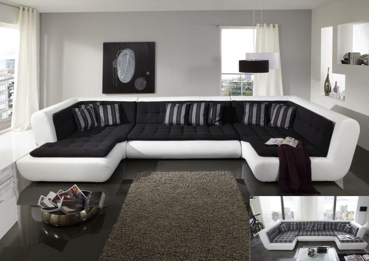 wohnlandschaft exit nine in leder als u form sofa g nstig kaufen. Black Bedroom Furniture Sets. Home Design Ideas
