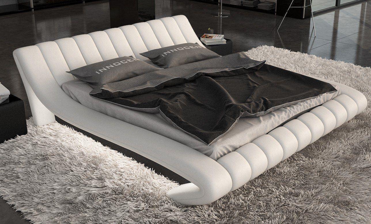 modernes Bett FERRARA in weiss