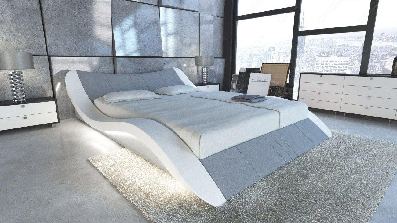 Luxus Wasserbett Frankfurt mit Microfaserstoff in grau Mineva 12