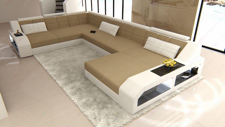 Couchgarnitur Matera XXL in sandbeige Mineva 9