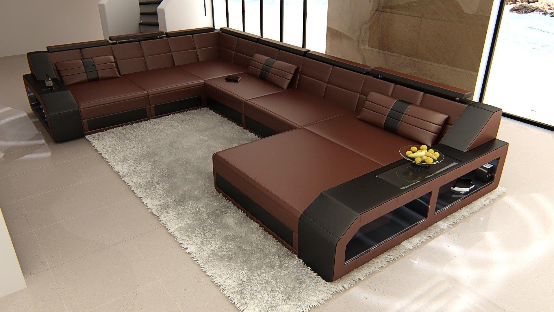 xxl wohnlandschaft matera xxl dunkelbraun schwarz. Black Bedroom Furniture Sets. Home Design Ideas