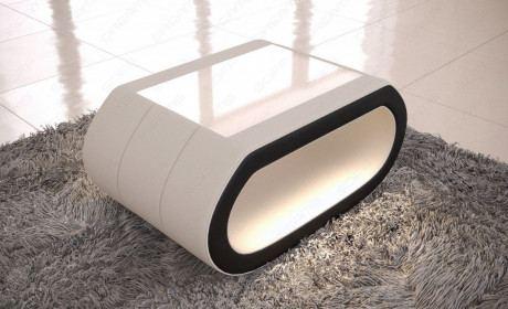 Couchtisch modern CONCEPT LED Webstoff - beige - Mineva 1