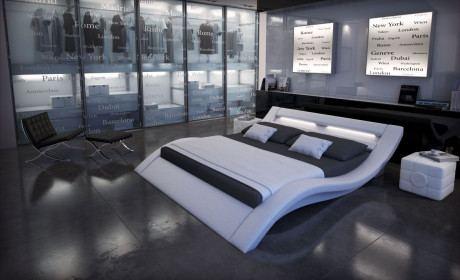 Wasserbett Massa weiss LED Beleuchtung
