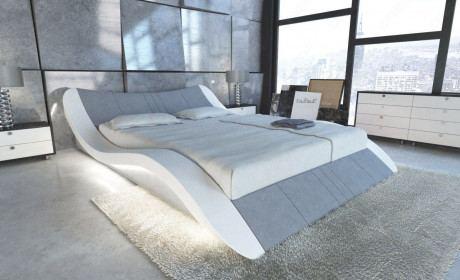 Design Wasserbett Frankfurt in Stoff mit LED