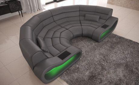32% Gespart Big Sofa Concept Leder Grau