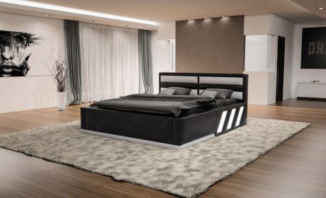 Bett Apollonia komplett schwarz weiss