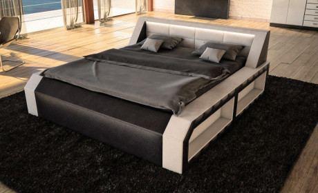Bett Matera komplett weiss schwarz
