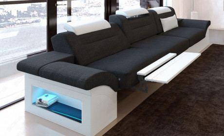 3 Sitzer Couch Sofa Monza mit Relaxfunktion schwarz Hugo 14