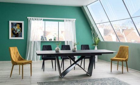 Esstisch Cali Two Küchentisch ausziehbar mit Glasplatte