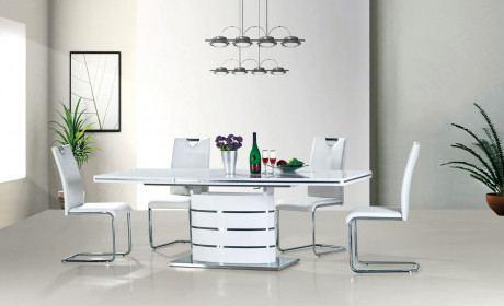 Esstisch Fano Weiß glänzend