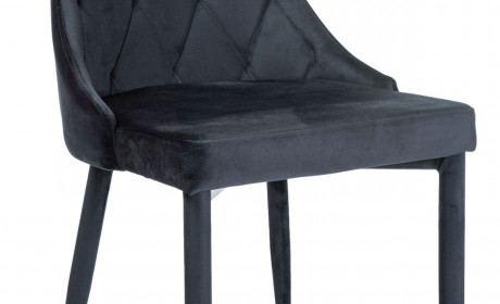 Esszimmerstuhl Cali Stoff Velvet schwarz