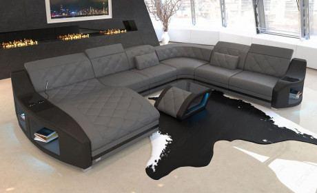 Ledersofas U Form Mit Ottomane Sofa Dreams