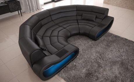 32% Gespart Big Sofa Concept Leder Schwarz