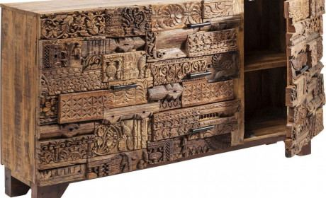 Sideboard geschnitzt Shanti Surprise Puzzle Nature