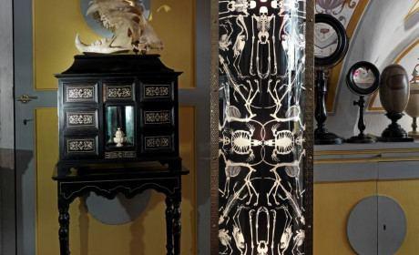 Wohnzimmerleuchte Perished mit Metallrahmen in schwarz