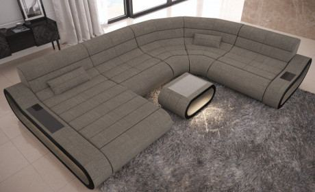 Sofa Wohnlandschaft Concept XXL Stoff Mix