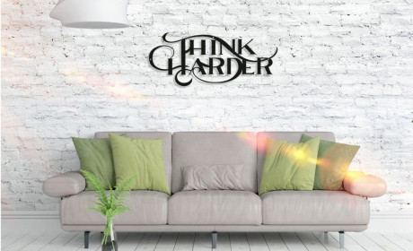 Metall Wandbild - Think Harder