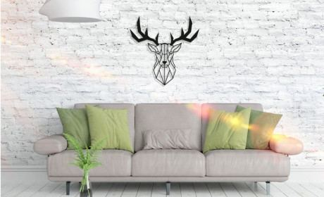 Metall Wandbild - Deer Head