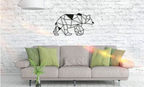 Metall Wandbild - Bear