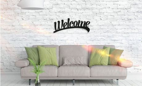 Metall Wandbild - Welcome