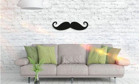 Metall Wandbild - Mustache