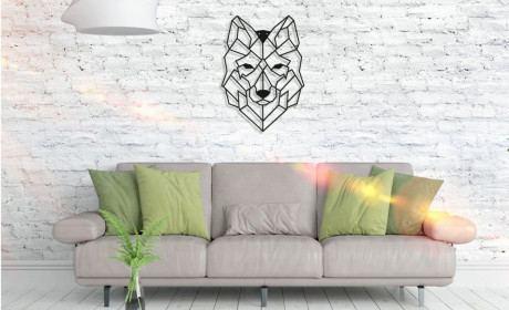 Metall Wandbild - Wolf