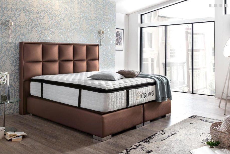 Luxus Boxspringbett Mandarin Kupfer 140x200, 160x200, 180x200, 200x200, 200x220