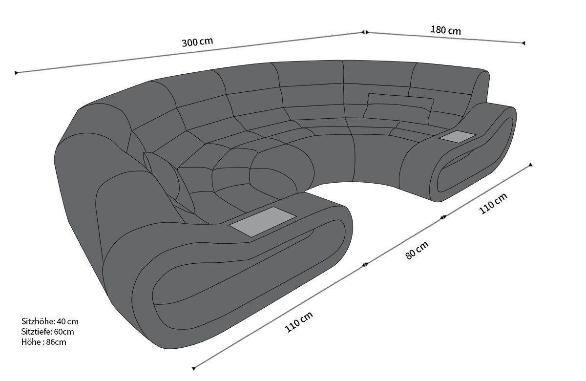 Big Sofa Concept Mit Stoffbezug Ihrer Wahl Designersofa Günstig