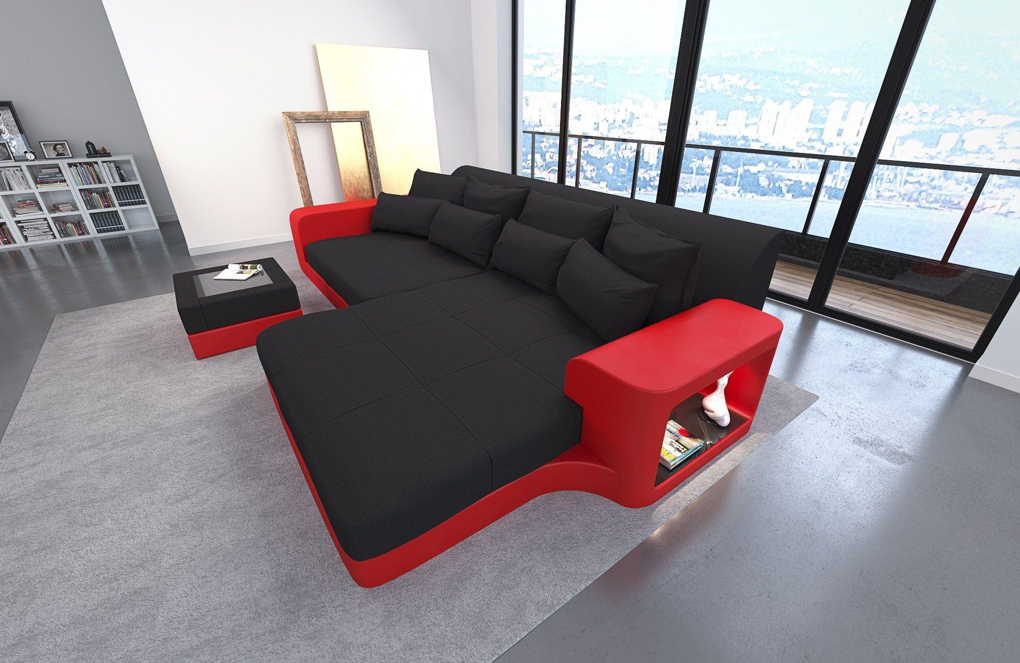 Big Sofa Milano Stoff – Stoffsofa mit Strukturstoff oder Mikrofaser