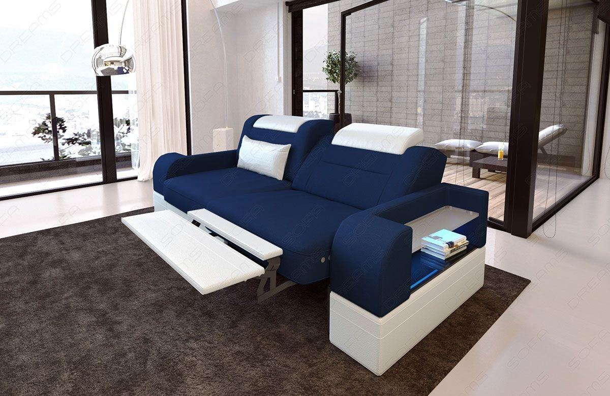 zweisitzer sofa parma mit dem stoffbezug ihrer wahl. Black Bedroom Furniture Sets. Home Design Ideas