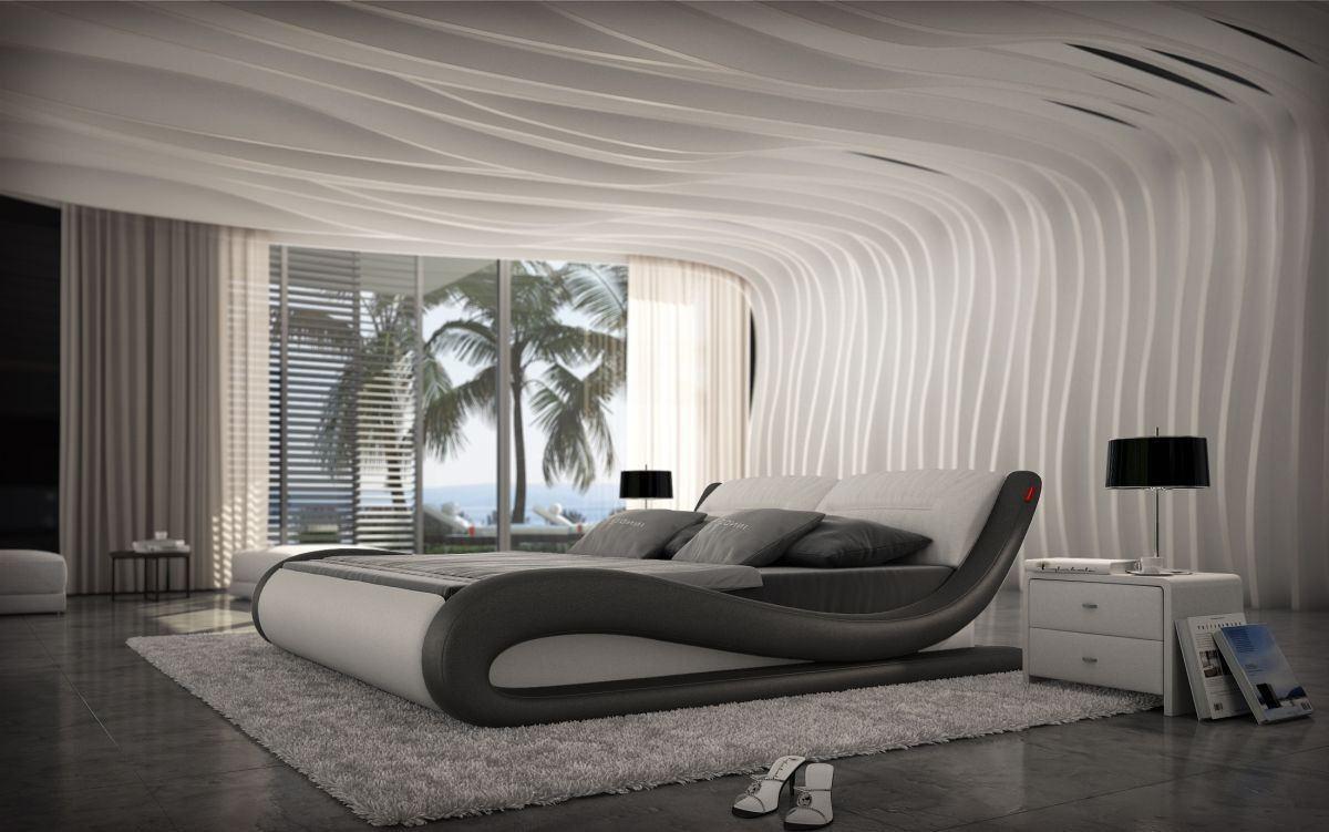 Modernes Designer Bett Aprilia In Verschiedenen Größen Und Farben
