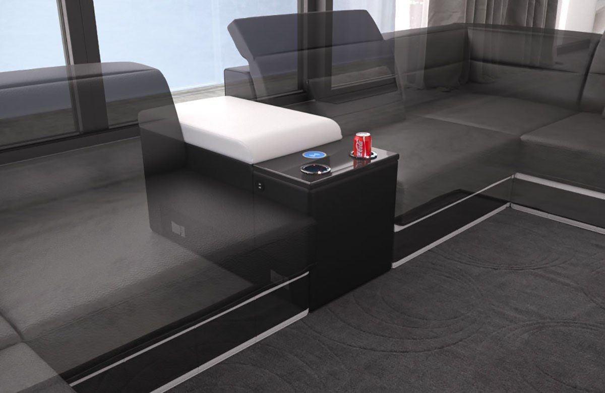 sofa mit einem elektrischen getr nkek hler und usb anschluss. Black Bedroom Furniture Sets. Home Design Ideas