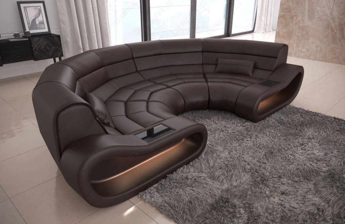 big sofa concept in leder und der farbe dunkelbraun. Black Bedroom Furniture Sets. Home Design Ideas