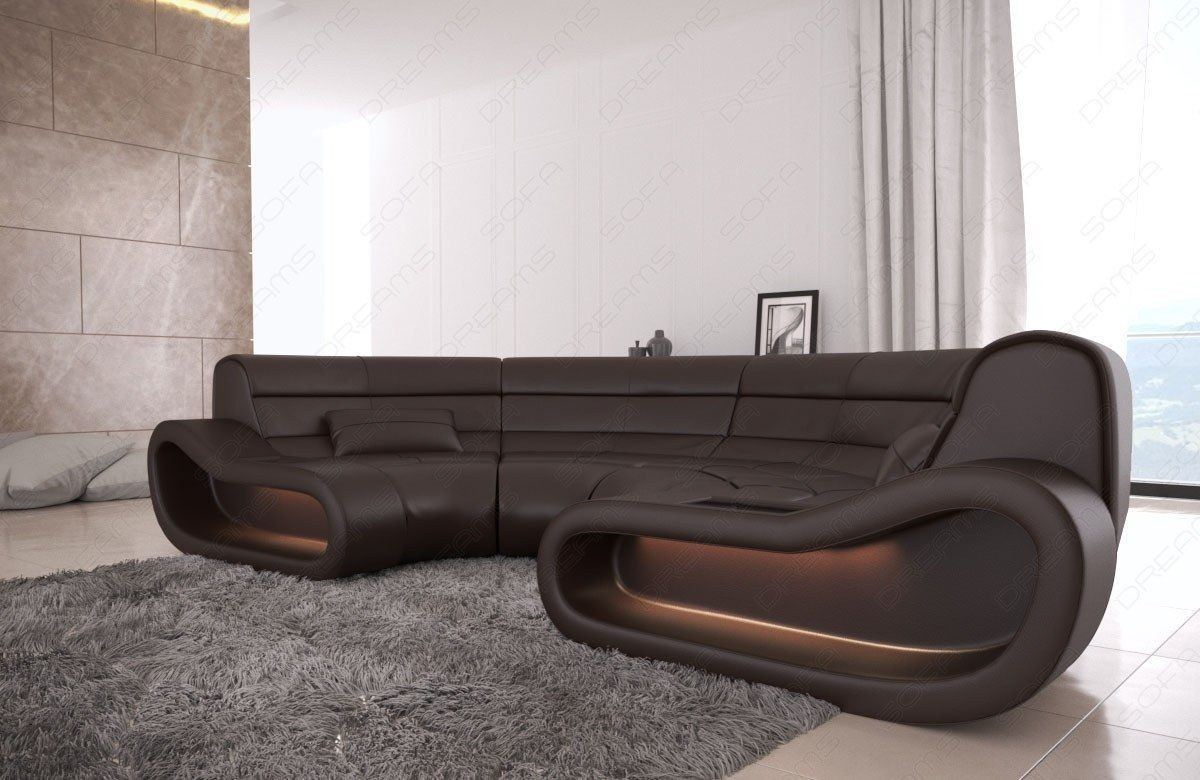 big sofa concept in leder und der farbe dunkelbraun. Black Bedroom Furniture Sets. Home Design Ideas