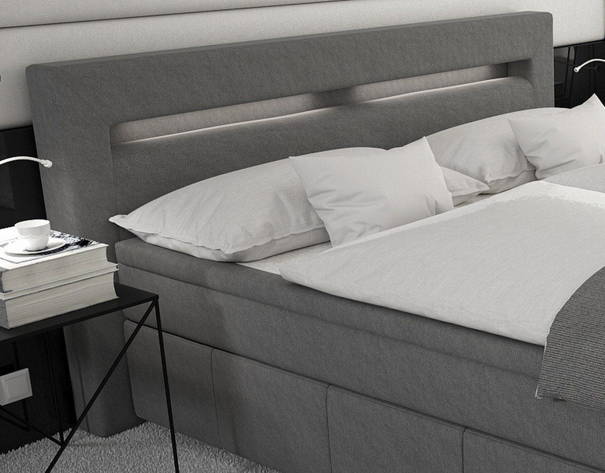 design boxspringbett essen mit praktischen stauraum. Black Bedroom Furniture Sets. Home Design Ideas