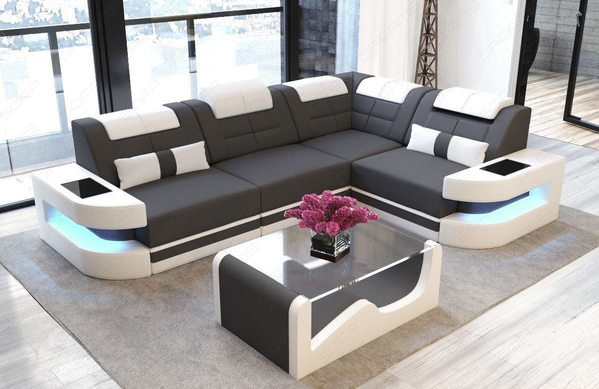 couch como in l form mit led licht designersofa g nstig. Black Bedroom Furniture Sets. Home Design Ideas